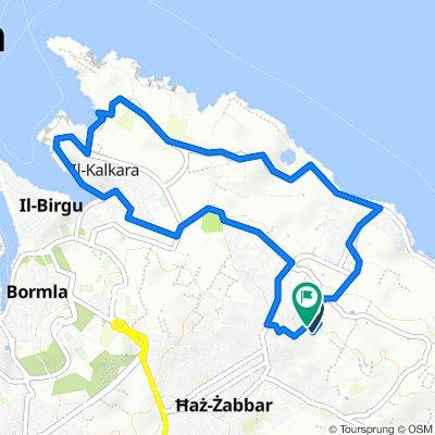 Zabbar-Xghajra-Kalkara-Zabbar