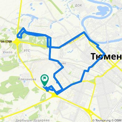 Расслабленный маршрут в Тюмень