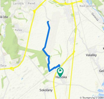 Stredná trasa Haniska