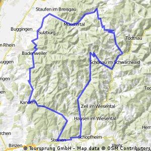 Steinen-Wieden-Staufen-Badenweiler-Kandern