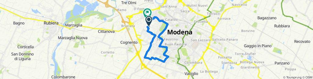 Da Via Don Saltini Zeno 156, Modena a Via d'Avia Nord 15, Modena
