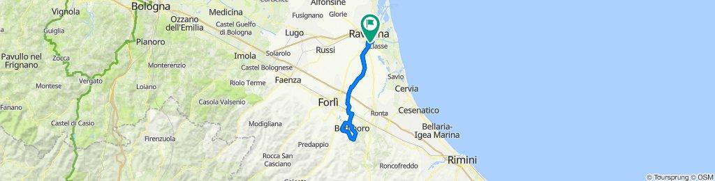 Da Via Ancona 11, Ravenna a Via dei Nespoli 42, Ravenna