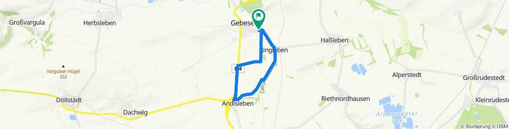 Langsame Fahrt in Gebesee