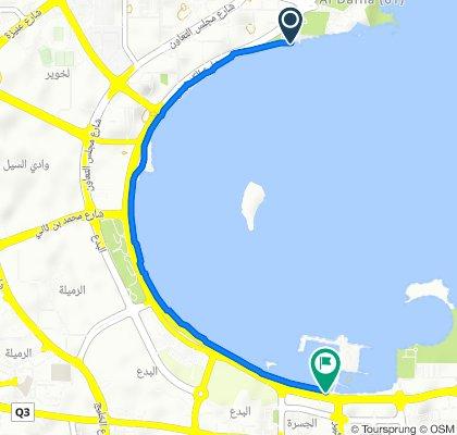 Corniche - Costa to Souq Waqif