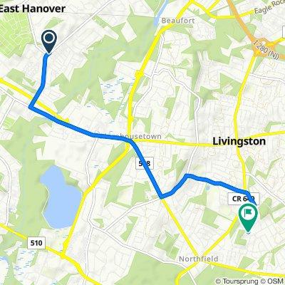 151–159 River Rd, East Hanover to 7 Arlington Dr, Livingston