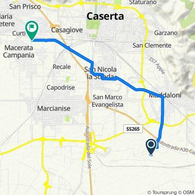 Da Via Ficucella 2, Maddaloni a Via Vicinale Bande di Caturano, Macerata Campania