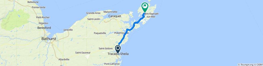 3493 Principale St, Tracadie-Sheila to 228 Du Pecheur St N, Ile de Lameque