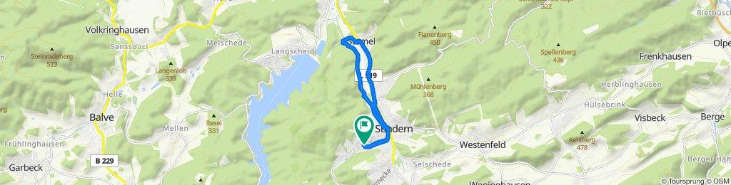 Moderate Route in Sundern (Sauerland)