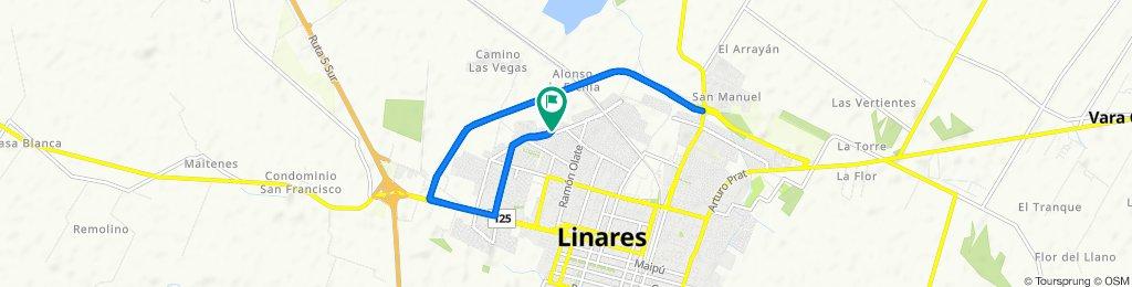 De Cabildo 1417, Linares a Cabildo 1412, Linares