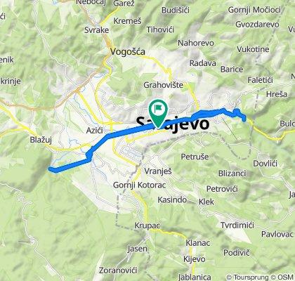 Restful route in Sarajevo