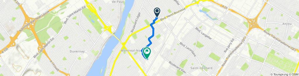 11551 Rue des Narcisses, Montréal to 4611A Rue Forest, Montréal