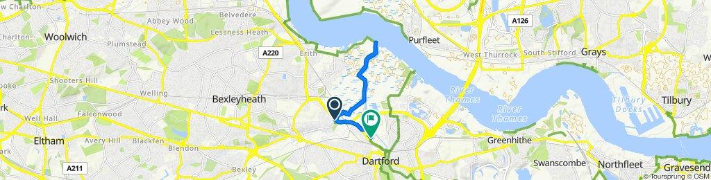 Restful route in Dartford