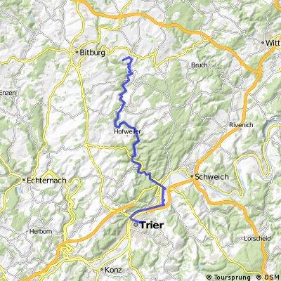Kyllradweg Eifelpark - Trier