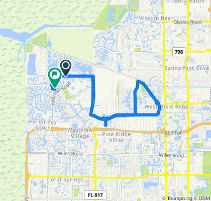 Sporty route in Parkland