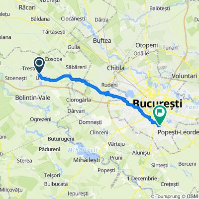 Route to Strada Secuilor, Bucharest