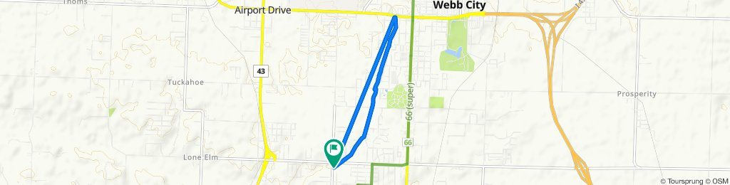 I rode 8.1 Miles on Frisco Greenway Trail(bicycle app messed up)