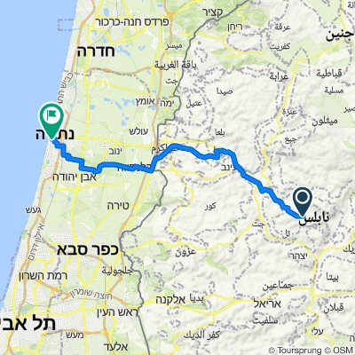 Nablus to Aba Akhime'ir Street 7, Netanya