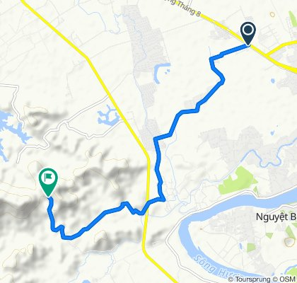 Cycling route from Culture Pham Travel to Huyen Khong Son Thuong Pagoda