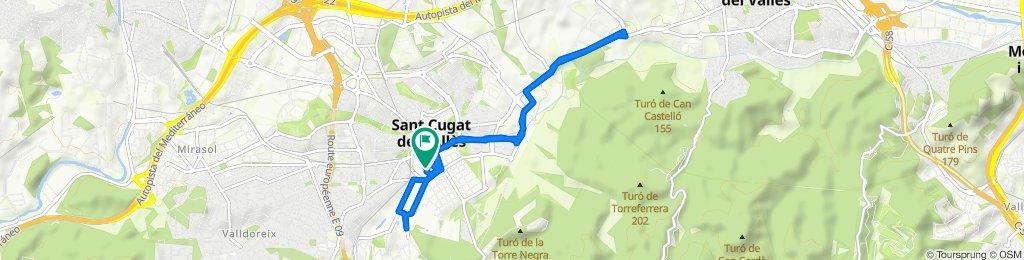Paseo rápido en Sant Cugat del Vallès