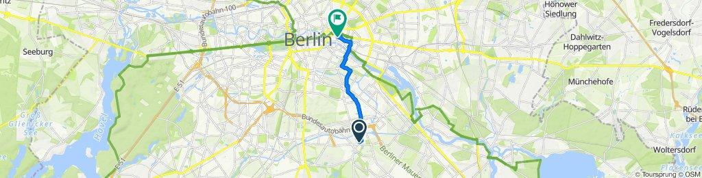 Gerade Fahrt in Berlin