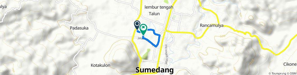 Jalan P. Sugih 50, Kecamatan Sumedang Selatan to Jalan Al-Malik, Kecamatan Sumedang Selatan