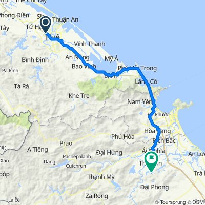 Cycling route from Culture Pham Travel to My Son Sanstuary In Hoi An