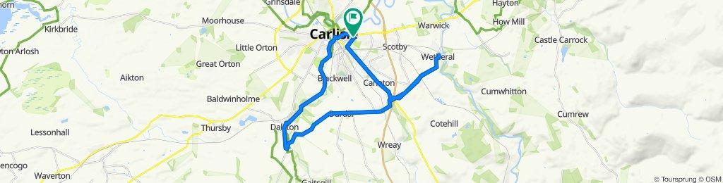 Halfeys Lane, Carlisle to 22 Tullie Street, Carlisle