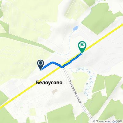 От Колхозная улица 17, Белоусово до улица Московская 65, Белоусово