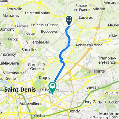 13 Rue du Maréchal de Lattre de Tassigny, Goussainville to 67 Avenue Marceau, Drancy