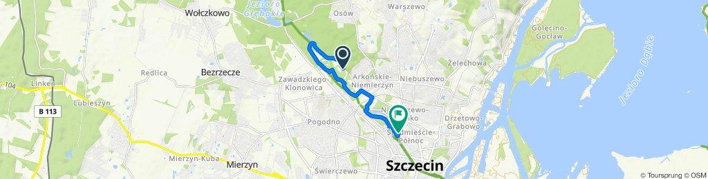 Spokojna trasa do Szczecin