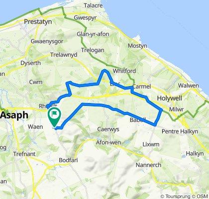 Tremeirchion Road, Saint Asaph to Groesffordd, Saint Asaph