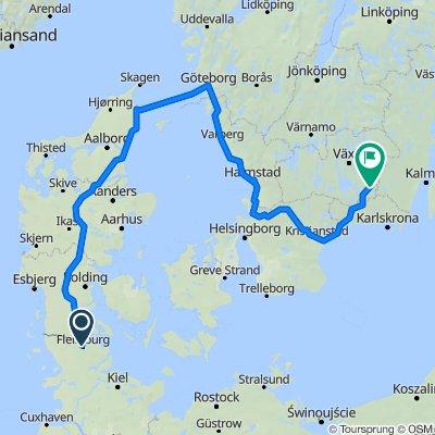 Fahrradtour von Flensburg nach Älmeboda
