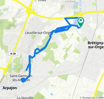 Itinéraire reposant en Brétigny-sur-Orge