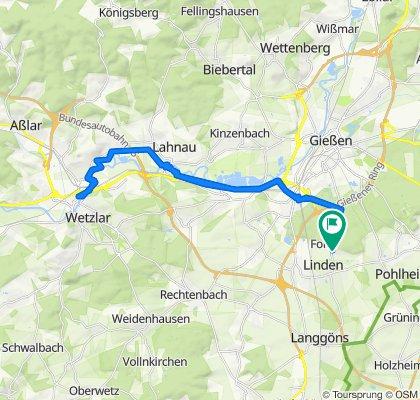 Knackige Fahrt in Linden