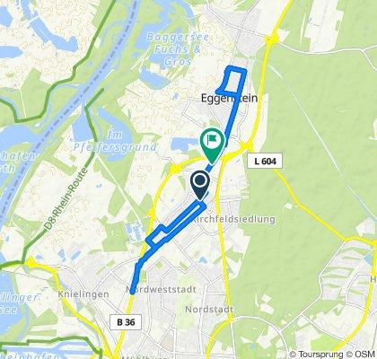 Runde zum Fahrradhändler ohne 😷 und dann über Neureut zum Spargel kaufen👍