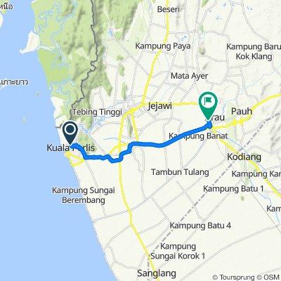 Jalan Dato' Ali 23, Kuala Perlis to Jalan KTM, Arau