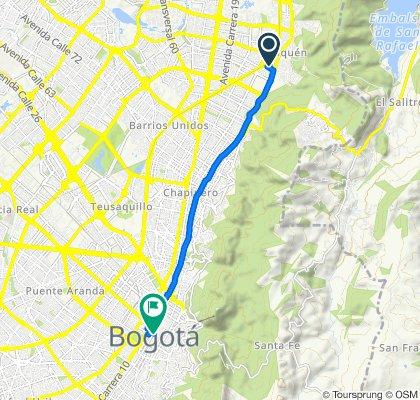 Ruta constante en Bogotá