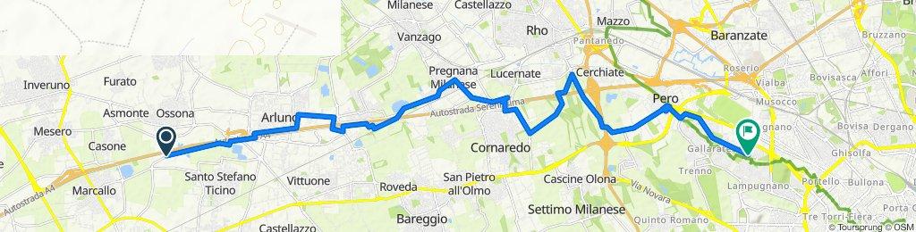 Da Pista Ciclabile Marcallo - Ossona a Via Giacomo Quarenghi 8, Milano