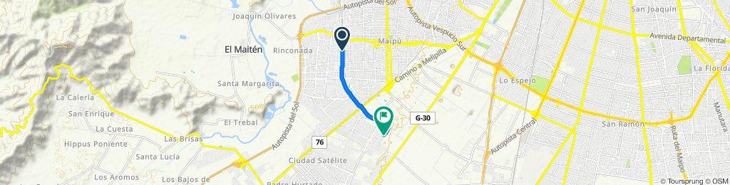 De Los Zarzales 1503, Maipú a Calle Lumaco 16216, Maipú