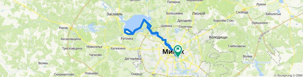 Спокойный маршрут в Минск