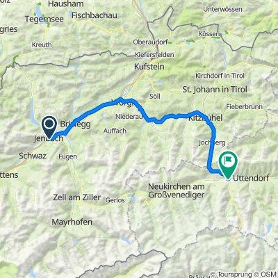01 Jenbach - Pass Thurn - Mittersill 88km, 1040 HM