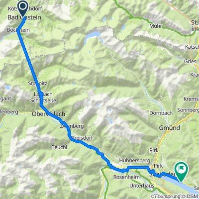 03 Bad Gastein - Tauernschleuse - Millstatt 63km, 100HM