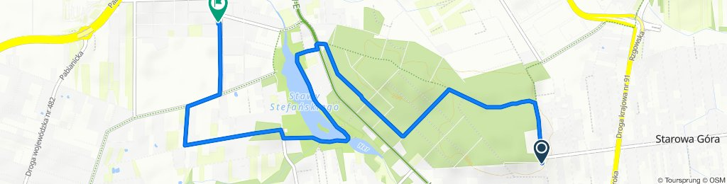 Powolna trasa w Łódź