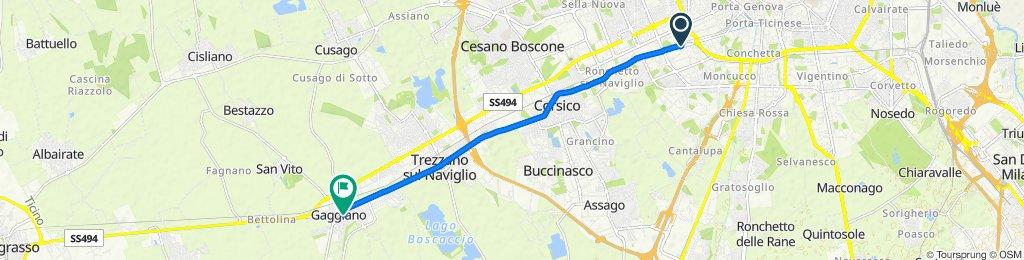 Percorso a velocità supersonica Milano