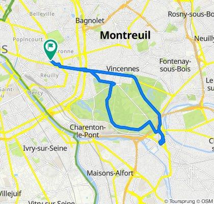 Steady ride in Paris