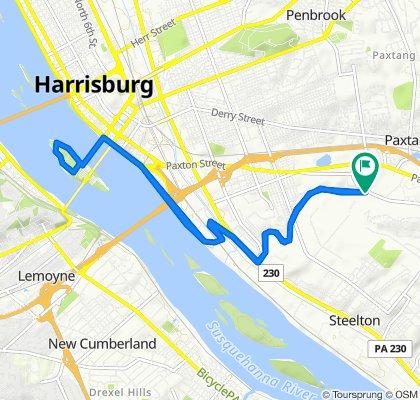 South 28th Street 1281, Harrisburg to South 28th Street 1281, Harrisburg