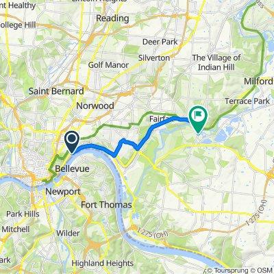 1828–1862 Riverside Dr, Cincinnati to 3811 Newtown Rd, Cincinnati