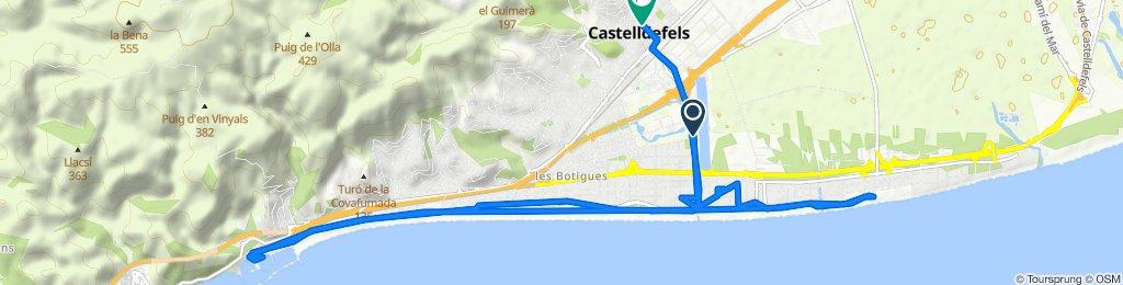 Ruta relajada en Castelldefels