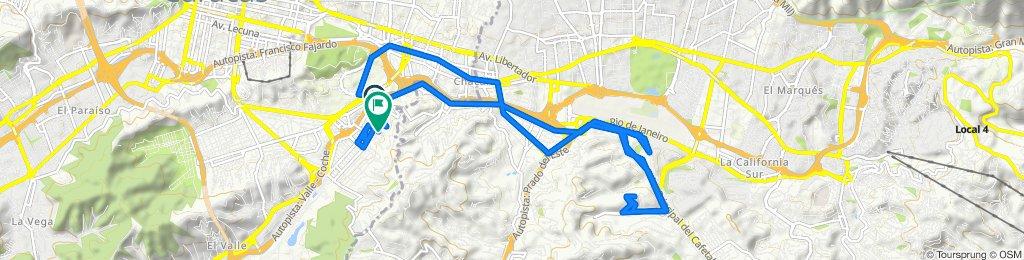 De Calle Vargas, Caracas a Avenida la Colina, Caracas