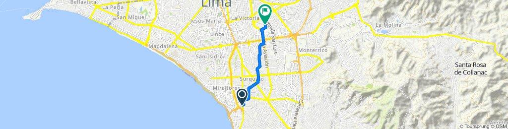 De Avenida República de Panamá 6588, Barranco a Jirón Rio Piura 457, San Luis